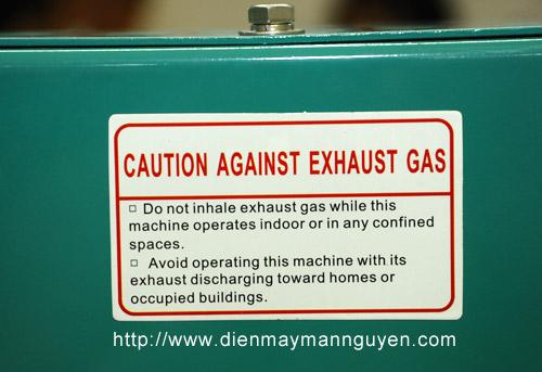 Cảnh báo bảo vệ ga mát phát điện